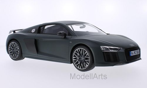 Audi R8 V10 Plus Coupe, matt-dunkeloliv 2015