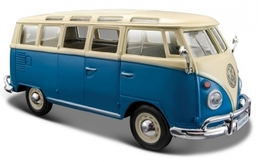 VW T1 Samba Bus blue/white