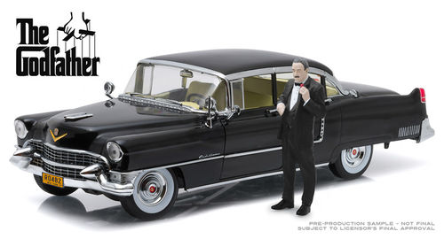 The Godfather 1972 1955 Cadillac Fleetwood Series 60 Special with Don Corleone Figure