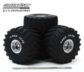 Kings of Crunch - 66-Inch Monster Truck Goodyear Wheel & Tire Set