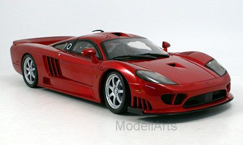 Saleen S7 Twin Turbo, metallic-rot, ohne Vitrine
