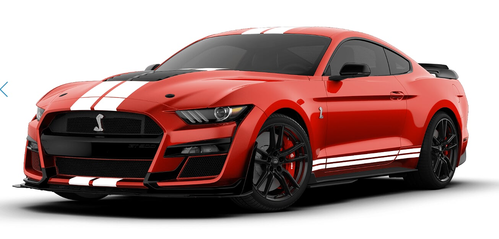 2020 FORD SHELBY GT500 Race red