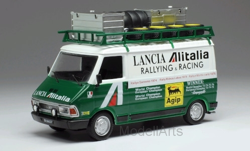 Fiat 242, weiss/grün, Alitalia, rally assistance wit roof rack
