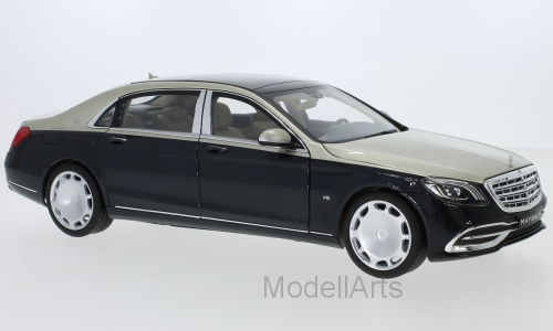 Mercedes Maybach S 650 (X222), metallic-hellbeige/metallic-dunkelblau