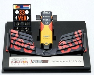 Aston Martin Red Bull Racing RB15 Nosecone – Verstappen – Scale 1:12 (with Showcase)