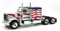 Peterbilt 359, 1967, (Stars and Stripes), white/red/blue